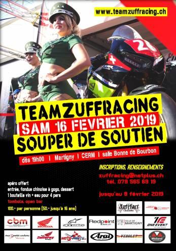 Repas de soutien au Team Zuff' Racing :: 16-17 février 2019 :: Agenda :: ActuMoto.ch