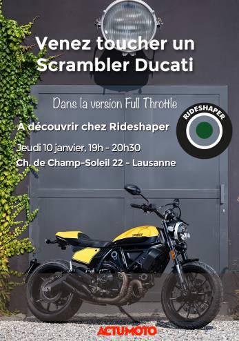 Venez toucher un Scrambler Ducati 800 :: 10 janvier 2019 :: Agenda :: ActuMoto.ch