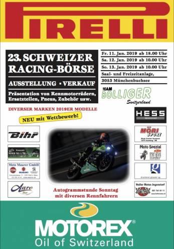 Bourse de matériel Racing :: 11-13 janvier 2019 :: Agenda :: ActuMoto.ch