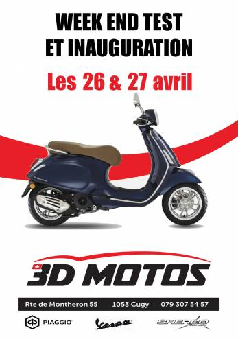 Inauguration et tests motos et scooters :: 26-27 avril 2019 :: Agenda :: ActuMoto.ch