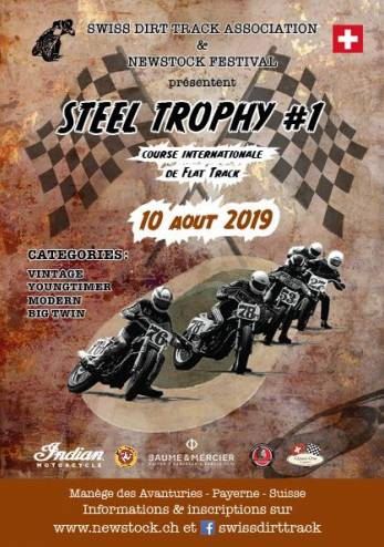 Steel Trophy (Dirt Track) à Payerne :: 10 août 2019 :: Agenda :: ActuMoto.ch