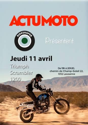 Venez toucher un Scrambler 1200 :: 11 avril 2019 :: Agenda :: ActuMoto.ch