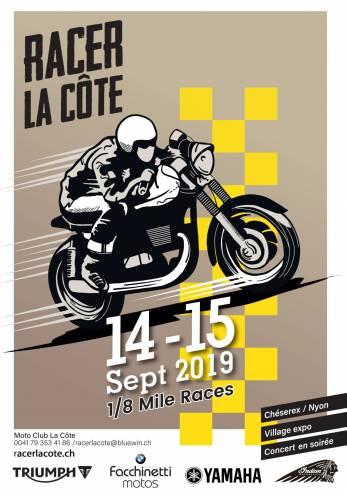 Course 1/8 de mile à Chéserex VD :: 14-15 septembre 2019 :: Agenda :: ActuMoto.ch
