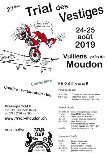 27e Trial des Vestiges :: 24-25 août 2019 :: Agenda :: ActuMoto.ch