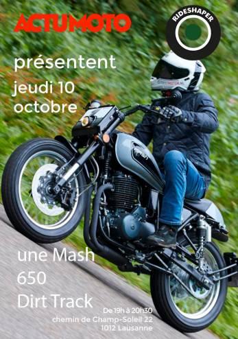 Venez toucher une Mash 650 :: 10 octobre 2019 :: Agenda :: ActuMoto.ch