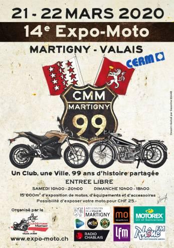 14ème Expo-Moto de Martigny :: 21-22 mars 2020 :: Agenda :: ActuMoto.ch