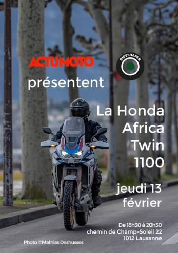 Venez toucher une Africa Twin 1100 :: 13 février 2020 :: Agenda :: ActuMoto.ch
