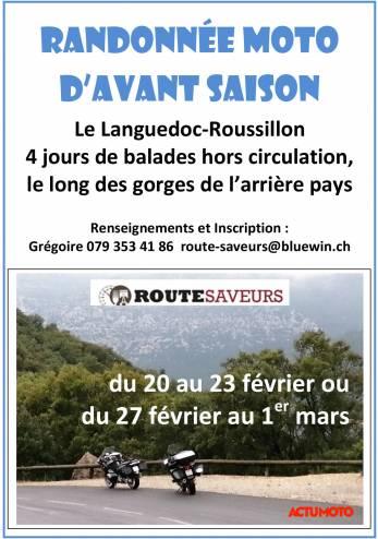 Tour guidé dans le Languedoc-Roussillon :: 20-23 février 2020 :: Agenda :: ActuMoto.ch