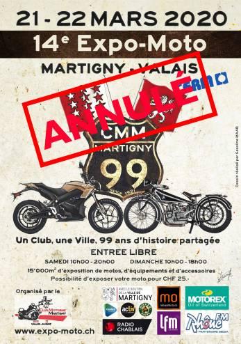 Expo-Moto de Martigny annulée :: 21-22 mars 2020 :: Agenda :: ActuMoto.ch