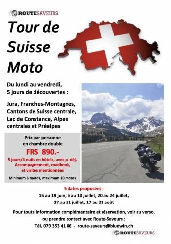 Tour de Suisse moto :: 15-19 juin 2020 :: Agenda :: ActuMoto.ch