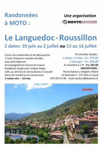 Randonnée moto Languedoc-Roussillon :: 29 juin - 02 juillet 2020 :: Agenda :: ActuMoto.ch