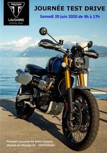 Test Ride Triumph Lausanne :: 20 juin 2020 :: Agenda :: ActuMoto.ch