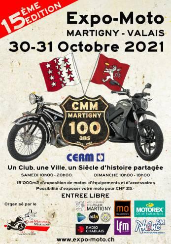 Expo-Moto Martigny :: 30-31 octobre 2021 :: Agenda :: ActuMoto.ch