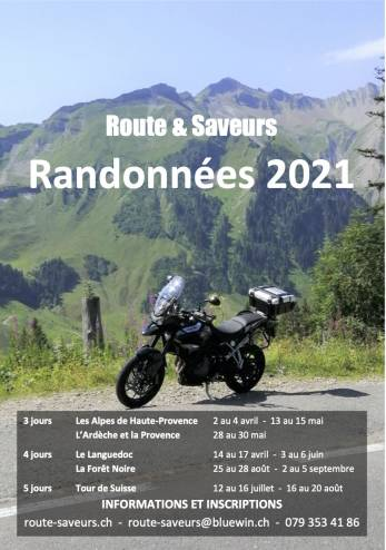 Randonnée moto en Haute Provence :: 02-04 avril 2021 :: Agenda :: ActuMoto.ch
