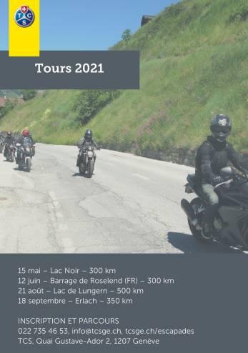Virée moto du TCS Genève :: 15 mai 2021 :: Agenda :: ActuMoto.ch