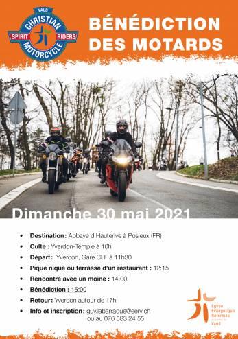 Bénédiction motarde à Hauterive :: 30 mai 2021 :: Agenda :: ActuMoto.ch