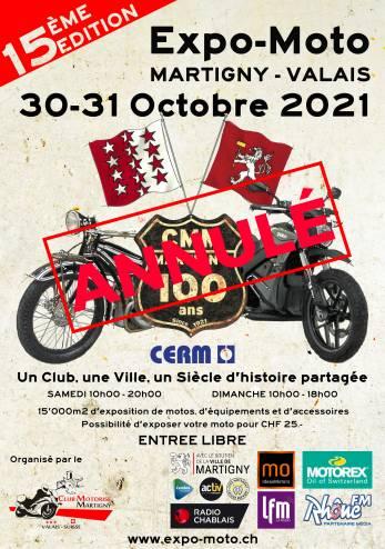 Expo-Moto Martigny annulée :: 30-31 octobre 2021 :: Agenda :: ActuMoto.ch