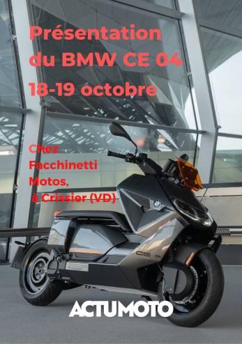Le BMW CE-04 chez Facchinetti :: 18-19 octobre 2021 :: Agenda :: ActuMoto.ch